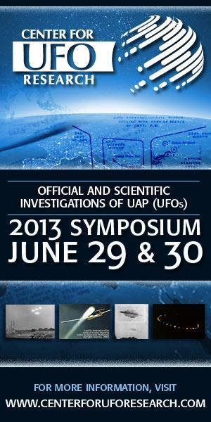2013 Symposium on Official and Scientific Investigations of UAP (UFOs)