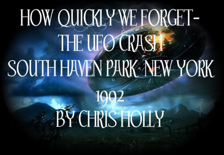 How quickly we forget the UFO crash at South Haven Park, NY in 1992